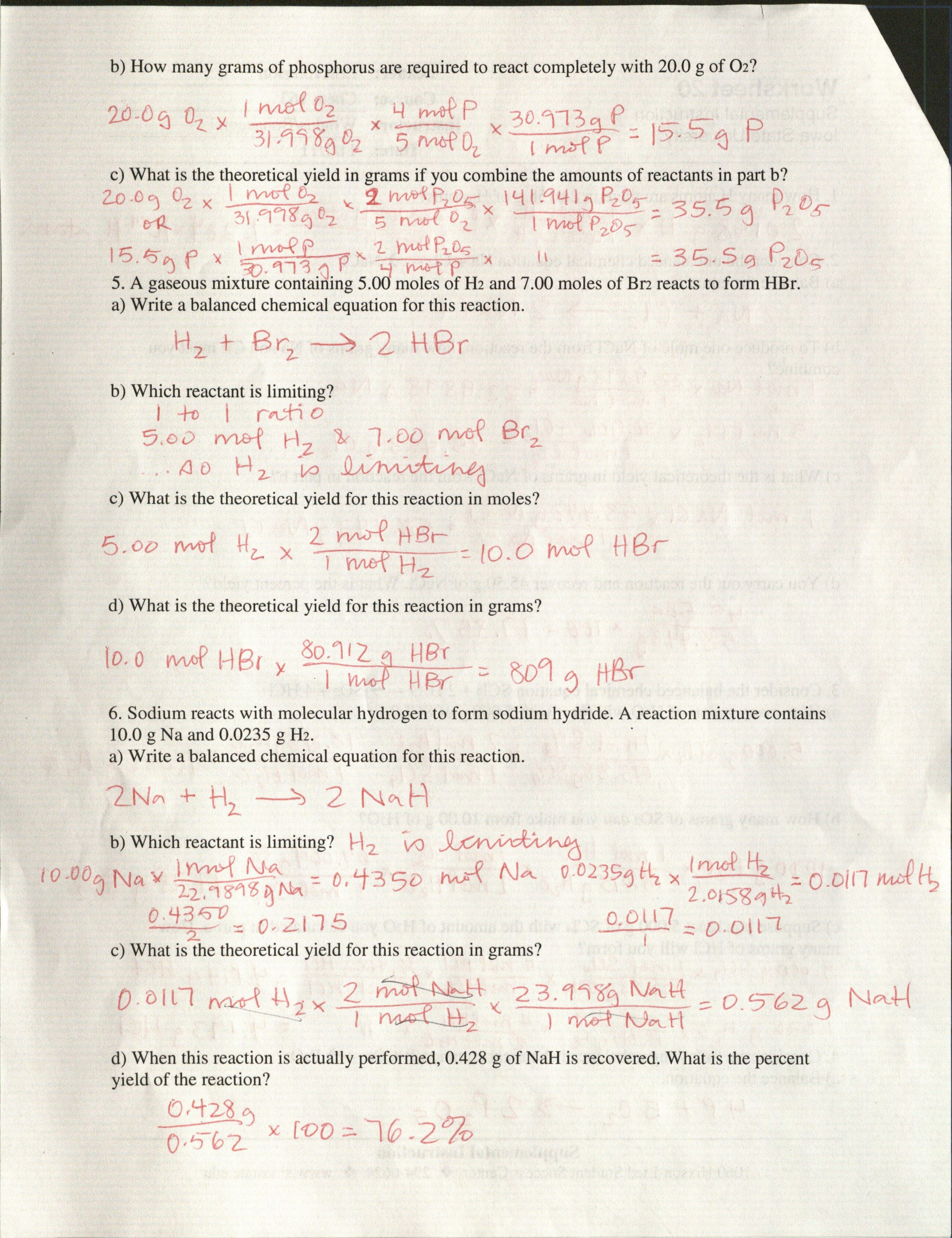 Atomic Structure Physical Science Worksheets