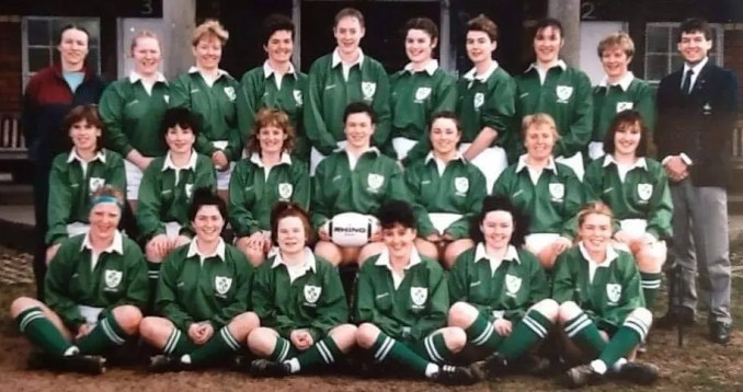 The Ireland team which faced Scotland during that inaugural match