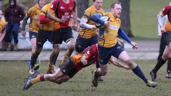 Matt Barker in action for Garioch