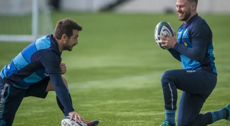 Greig Laidlaw and Ali Price