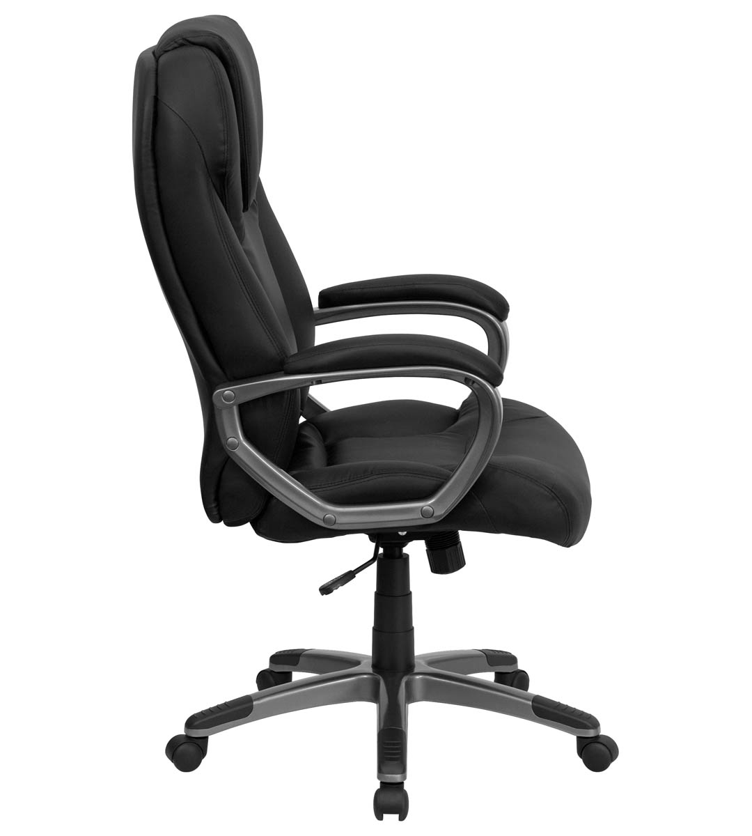 Plush Office Chair Formfit Plush Executive Black Leather Office Chair
