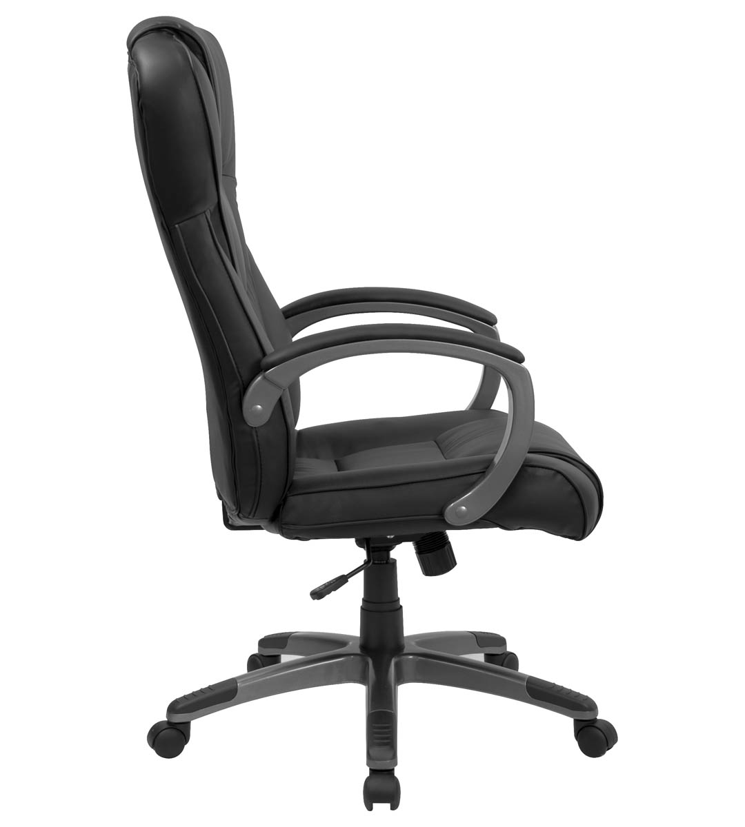 Plush Office Chair Formfit Extra Plush Executive Black Leather Office Chair