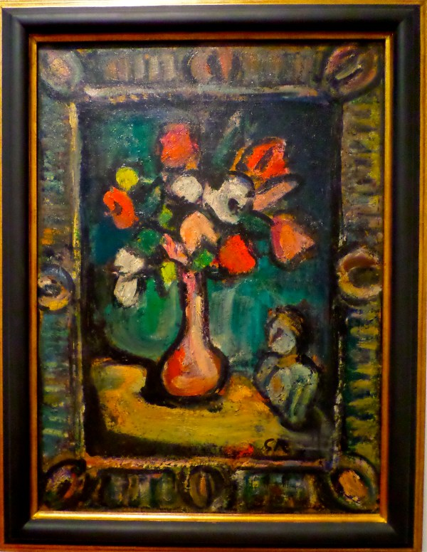 Georges Rouault Painting Flowers