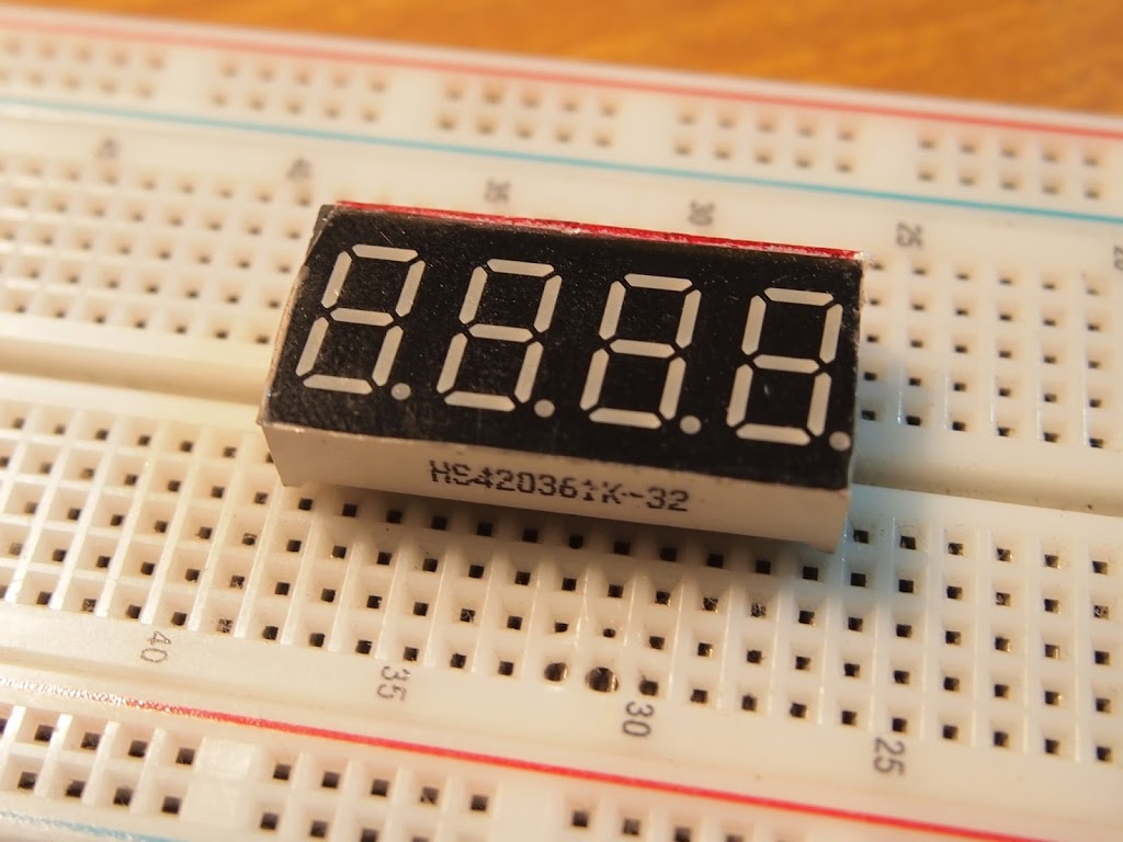 How to Get Your HS420361K-32 4 Digit 7 Segment Display Working with an Arduino