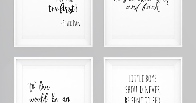 Peter Pan Wall Art – Set of 4