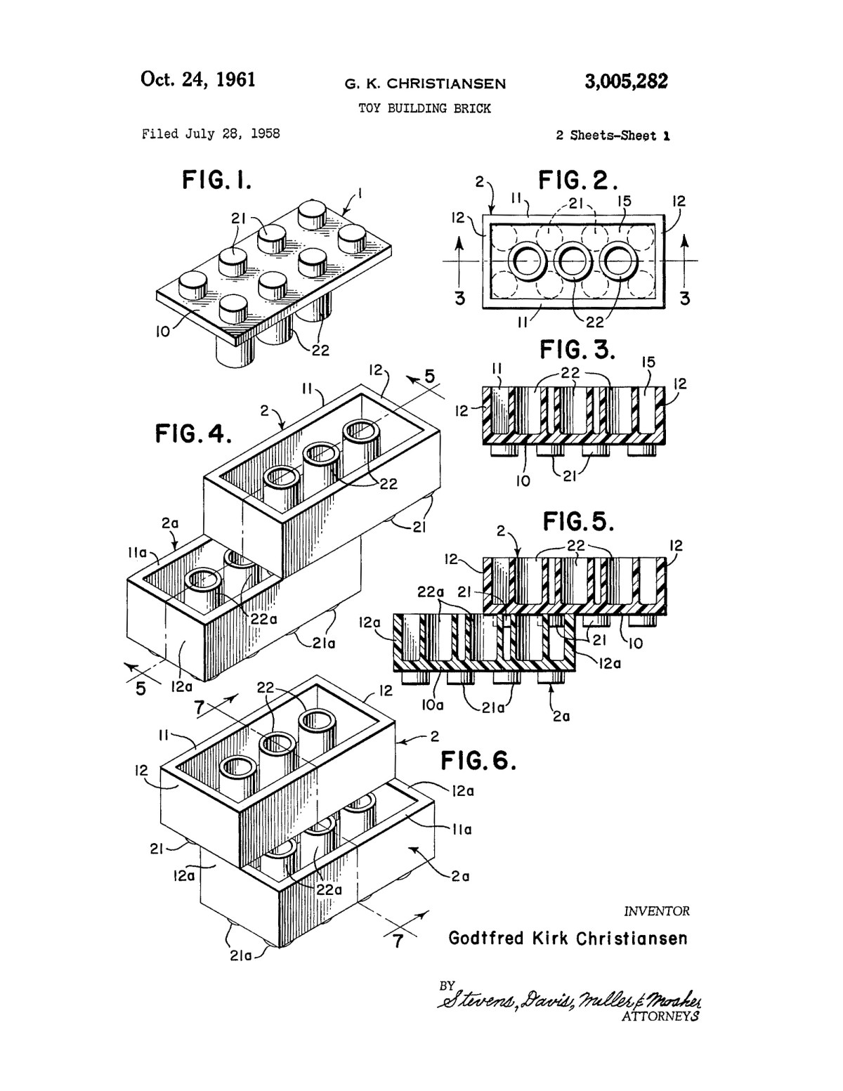 lego patents wall art