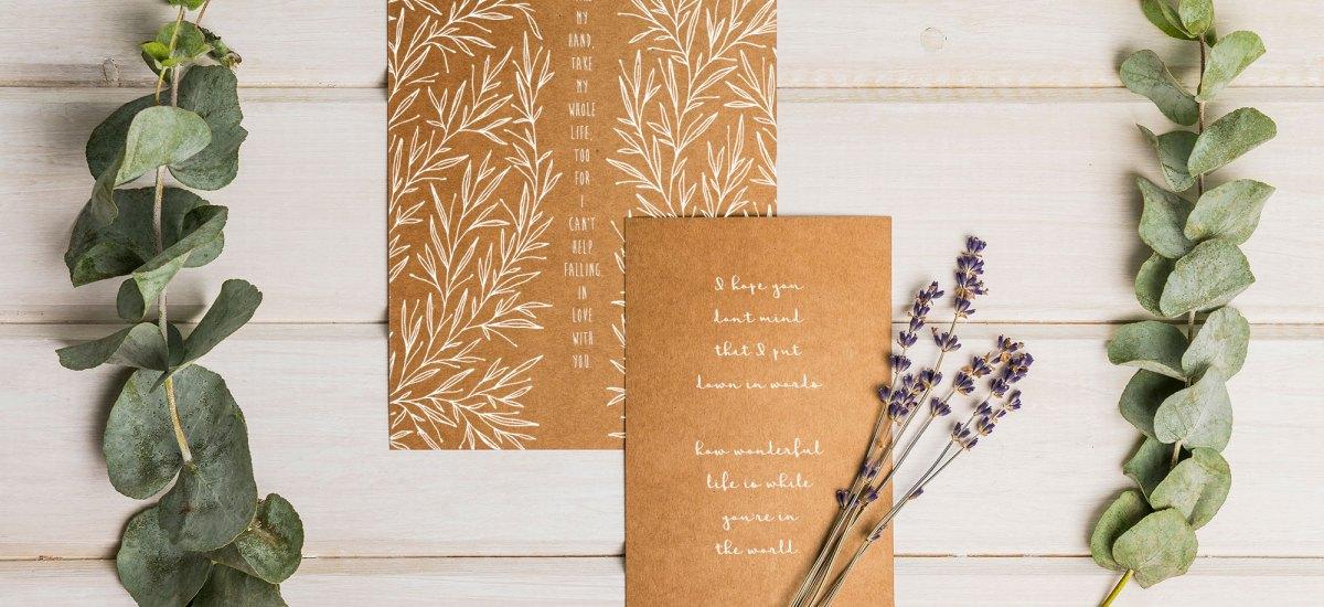 Valentine's Day Cards – Love Song Lyrics