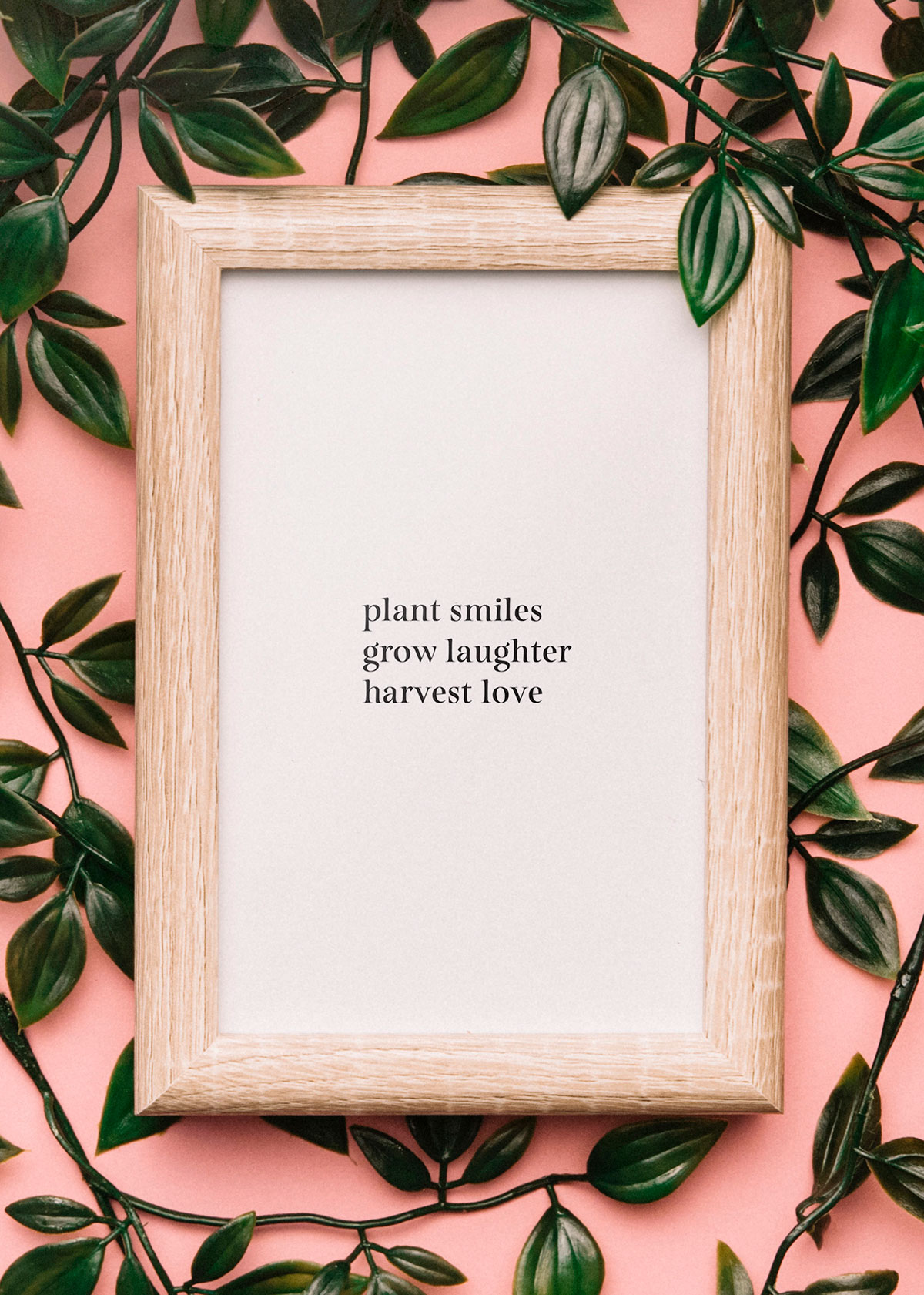 Plant Smiles, Grow Laughter, Harvest Love - Wall Art
