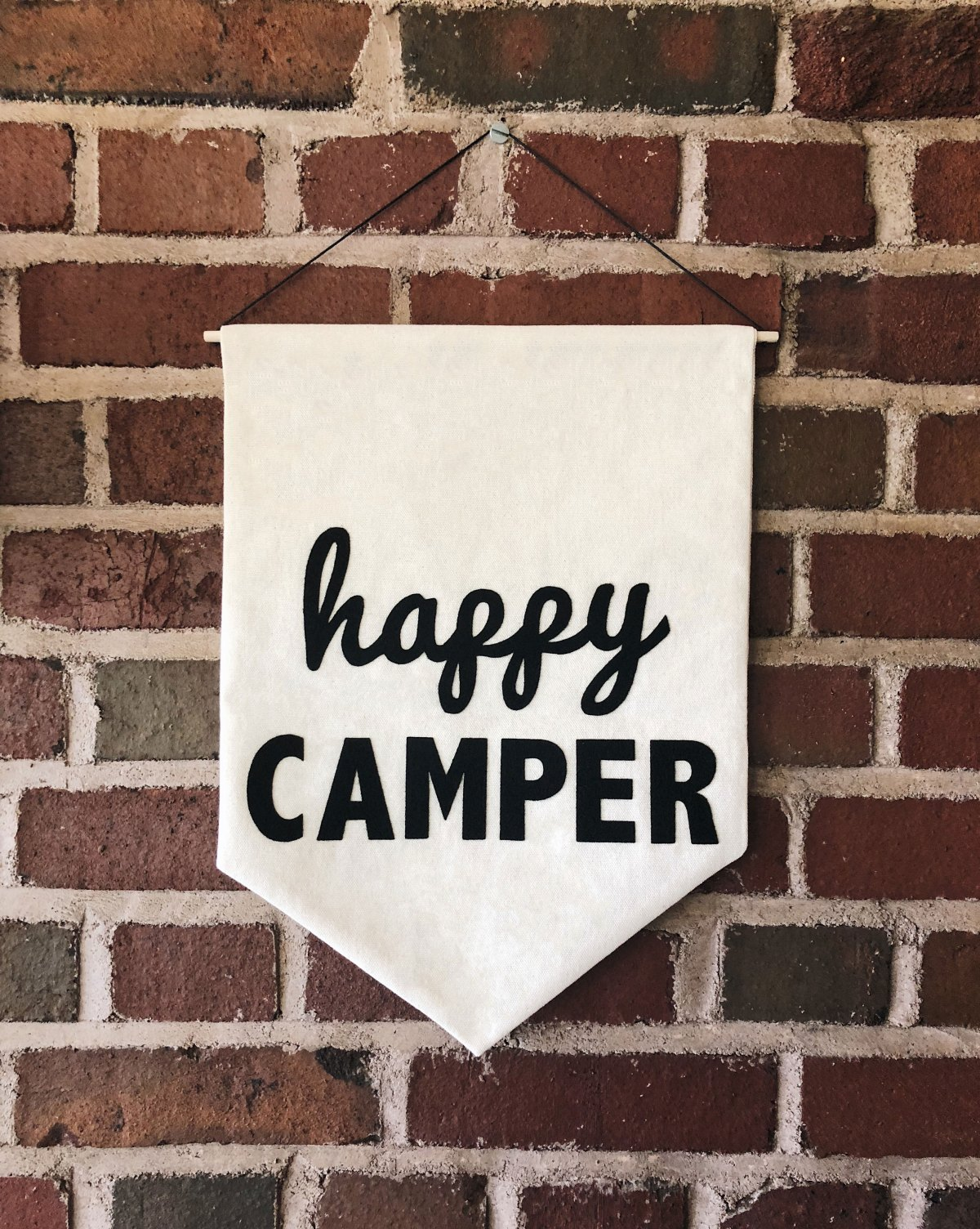 Happy Camper Canvas Banner