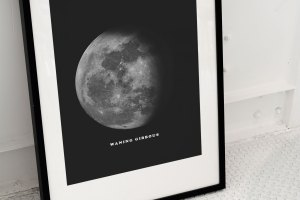 MOON PHASES WALL ART – SET OF 4
