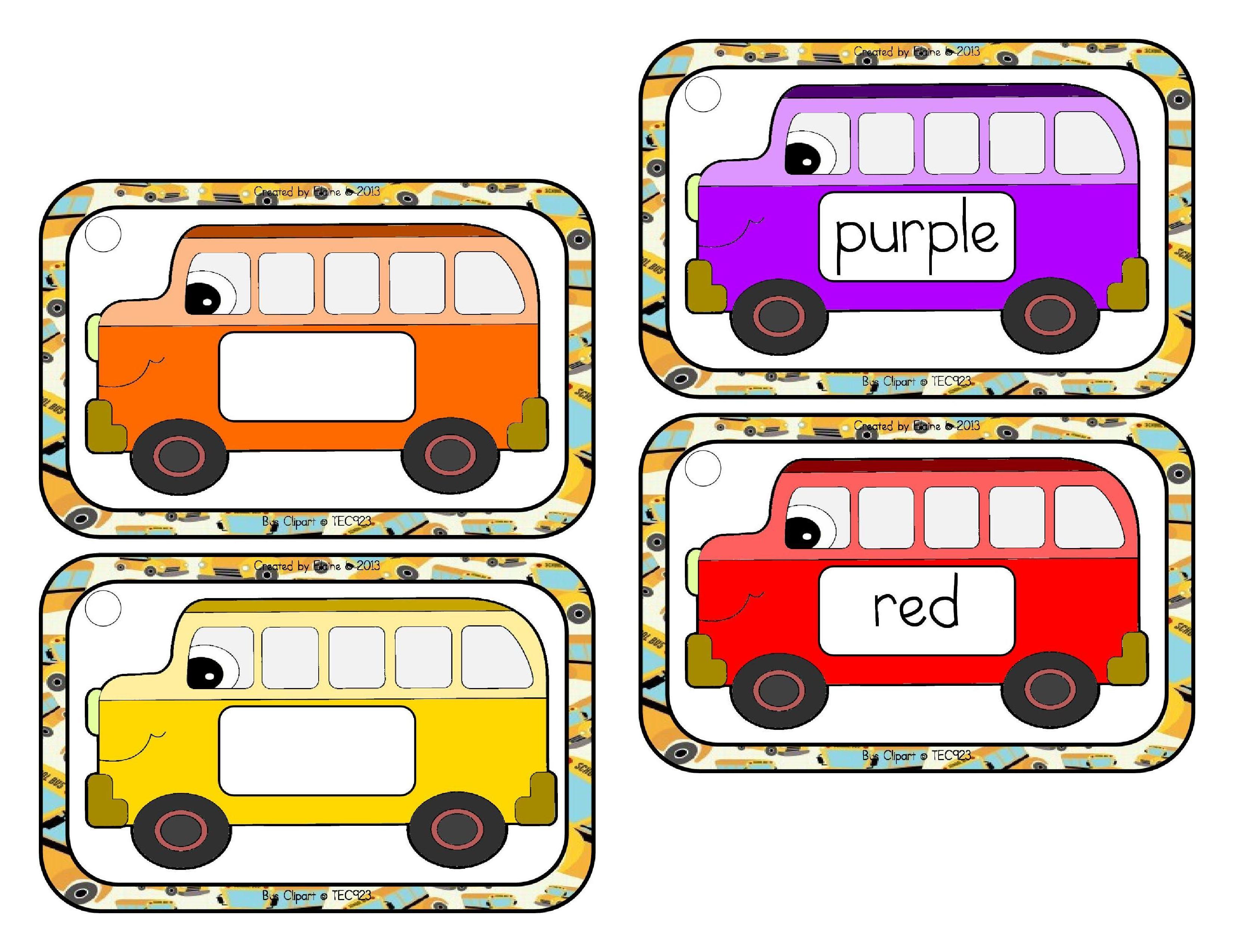 Labelcolorsschoolbus Byelaine Sample