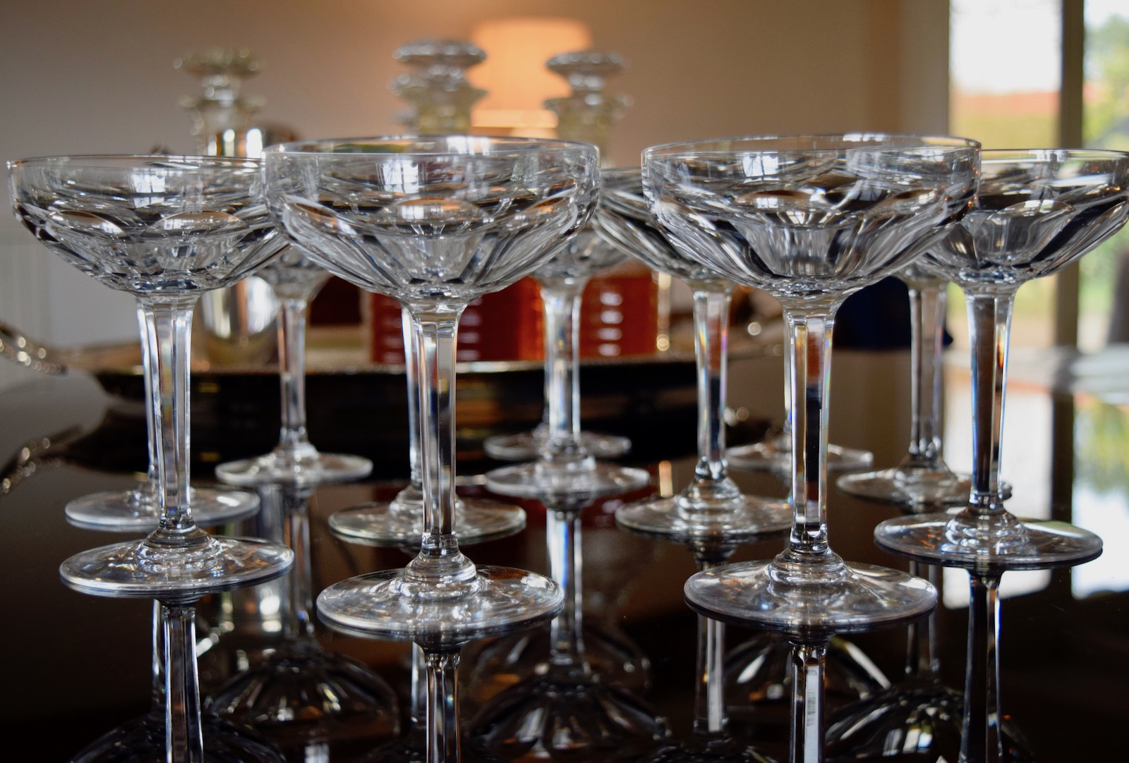 X Stock SOLD Val St Lambert Champagne Coupes x 12