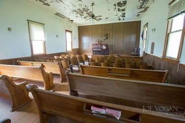 Interior, Harmony Friends Church, Wessington Springs, South Dakota (Jerauld County), 1913