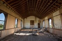 Facing towards the altar space. North Grand Church, near Hettinger, North Dakota (Adams County)