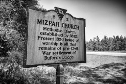 Historical Marker, Mizpah Church South Carolina