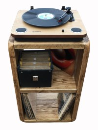 (NEW) Record player stand,LP Storage box,record player ...