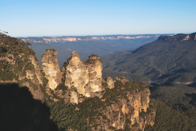 Three Sisters in the Blue Mountains of Australia