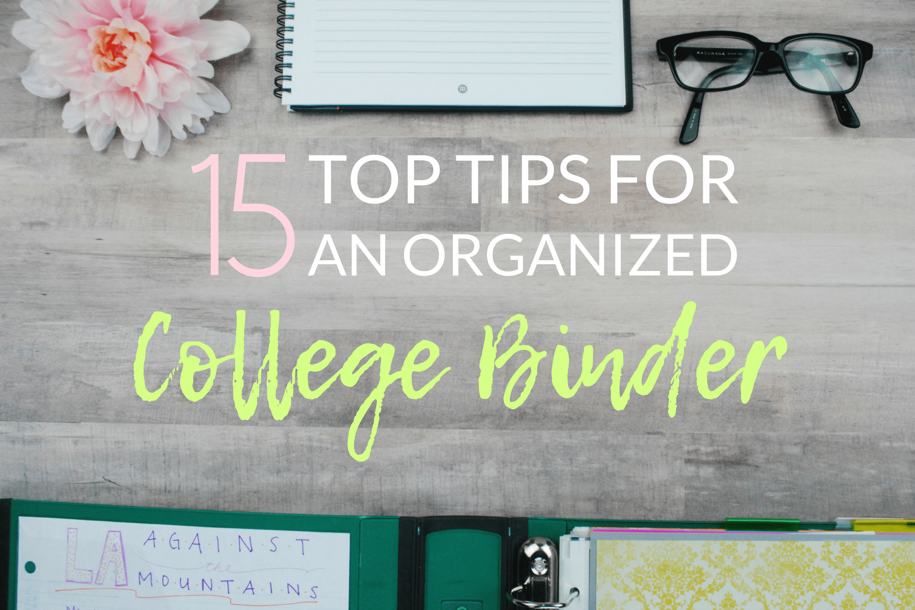 15 Top Tips To An Organized College Binder The Olden Chapters