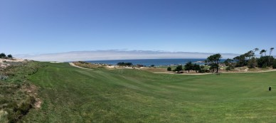 Panorama of the sea, and the 2nd fairway.