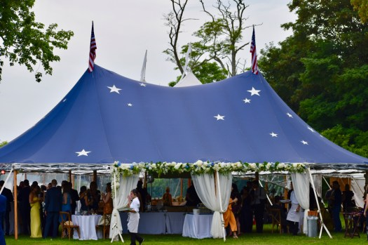 Blue tent with stars from Sperry Tent