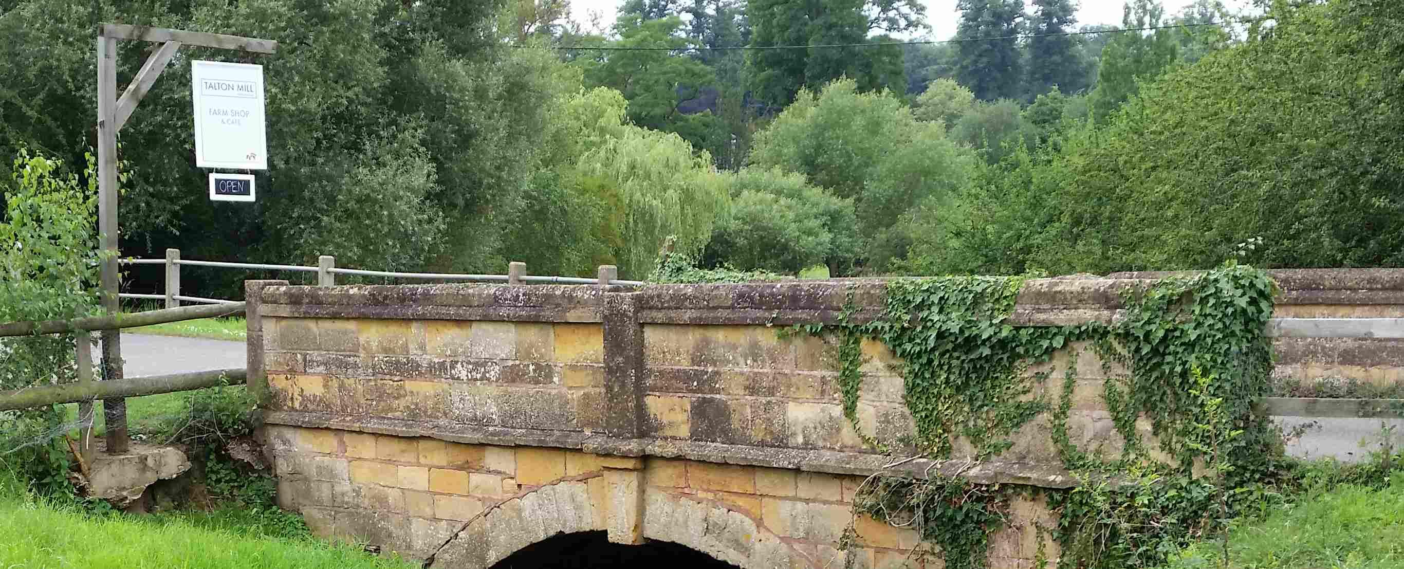 The bridge at Talton Mill Farmshop