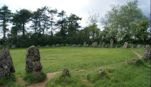 The King's Men stone circle, one of three monuments that make up the Rollright Stones