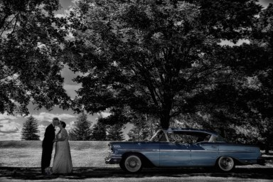 Brampton Black and White Photography with classic car.