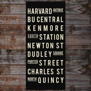 boston subway sign