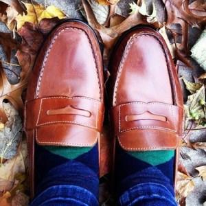 penny loafers argyle socks