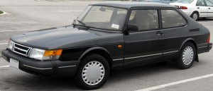A Saab 900 from the 1980s.