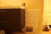 bathroom subway tile bevelled