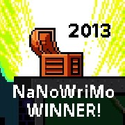 2013 NaNoWriMo Winner badge