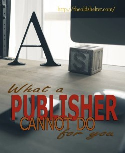 What a publisher cannot do for you - Today, publishing is very easy, even without a publisher. Thousands of new titles become available to readers every day. This had produced a paradox: in spite of the increased possibility for discoverability, making readers aware that a title is available is harder than ever. Promoting a book has become more demanding both in terms of time and money.