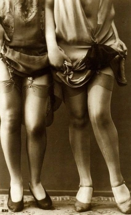 1920s legs! - The New Woman of the Roaring Twneties might have played down her chest and hips, but she sure knew how to attract attention to ther legs