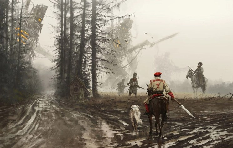 The World of Scythe is a beautiful 105-page art book showcasing the work of Jakub Rozalski for the board game Scythe, one of the most successful games ever funded on Kickstarter. The book was only made available to backers during the Kickstarter campaign, and is now only available on ArtStation Shop.