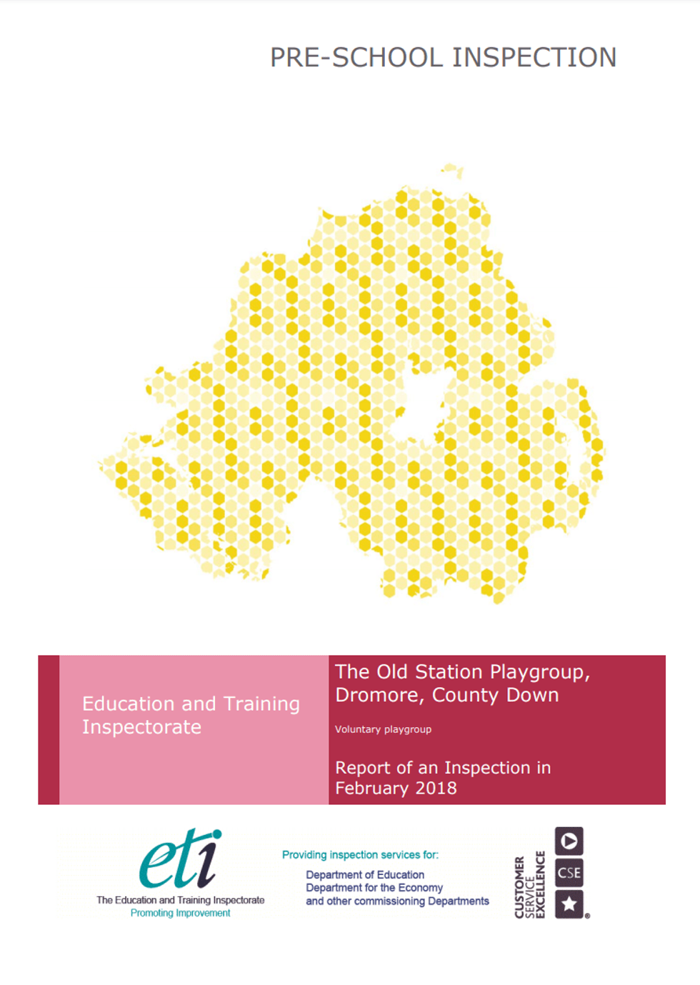 Education Training Inspectorate Report for The Old Station Nursery, February 2018