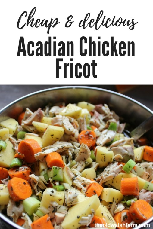 Acadian chicken fricot