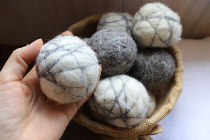 Caring for wool dryer balls