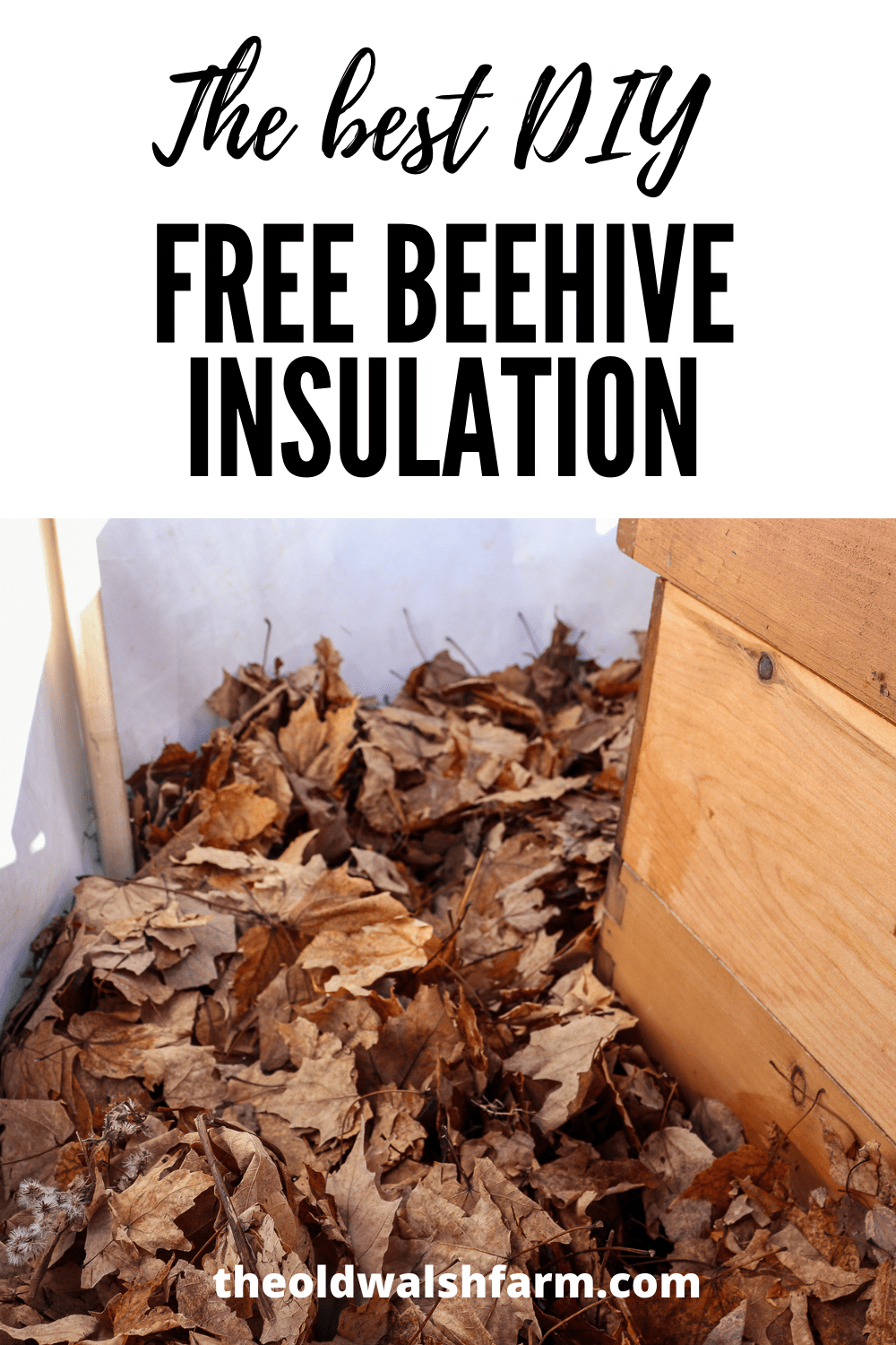The best FREE DIY Beehive Insulation