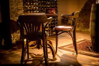 A quiet spot in the wine cellar
