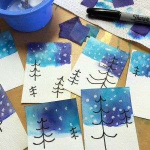 Preventing Boredum with Winter Themed Crafts