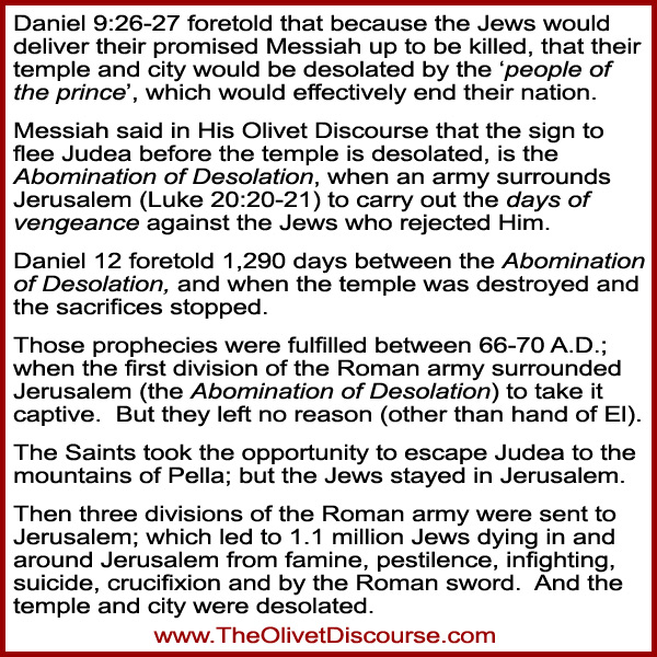 70th week of Daniel and the Olivet Discourse connection