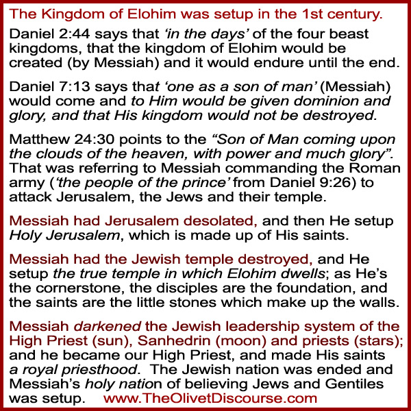 Olivet Discource Messiah Set Up His Kingdom