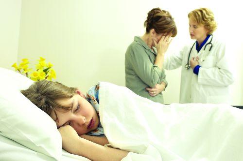 pe patul de spital