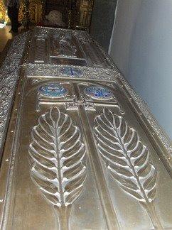 Fragment din racla cu Sfintele Moaste ale Mucenitei Eufimia