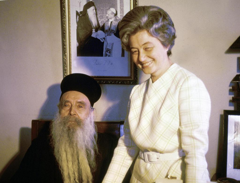 Chiara Lubich cu Patriarhul Ecumenic Athenagoras