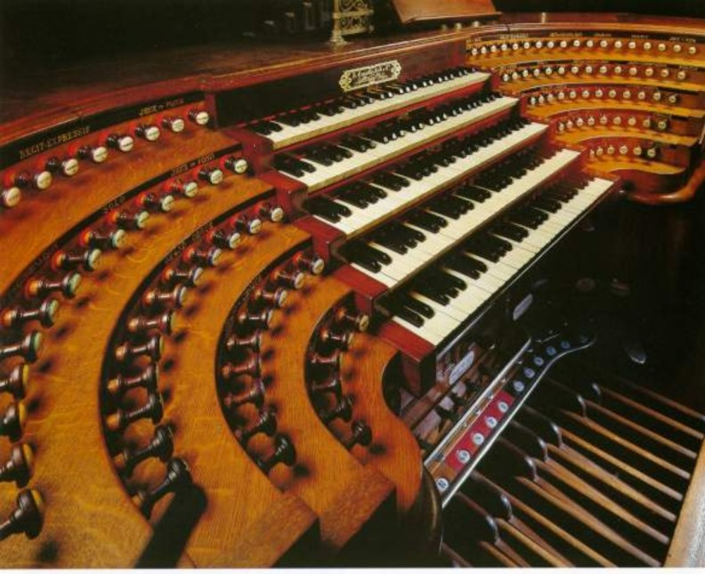 Organ Console, St. Sulpice, Paris, France