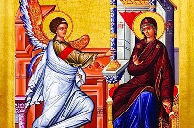 聖母領報節:聖像畫解說 Annunciation: Icon
