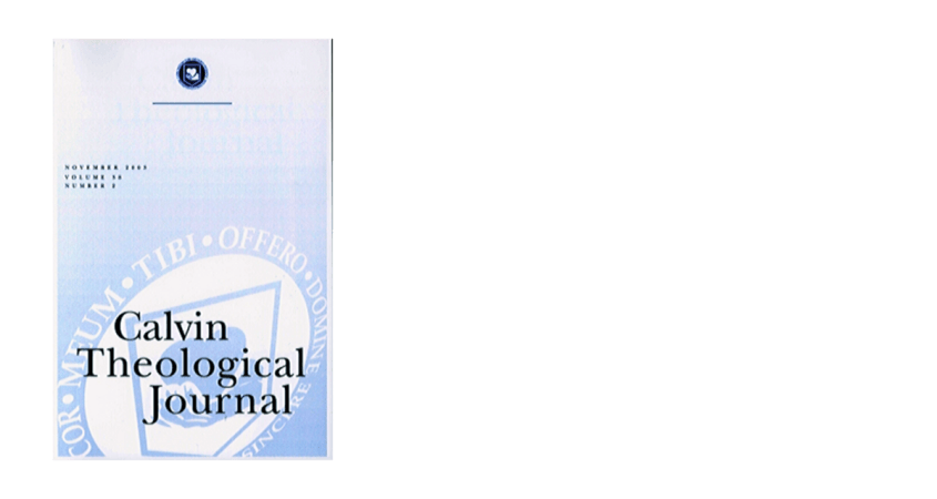 Calvin Theological Journal Cover Image