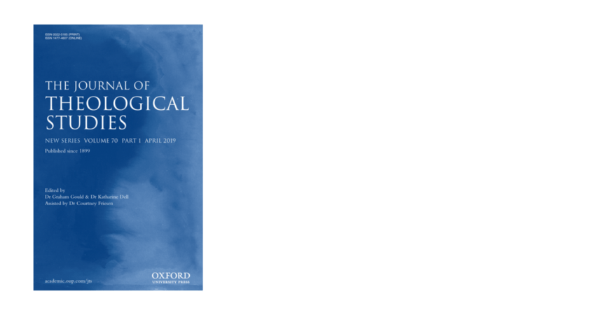 Journal of Theological Studies Cover Image